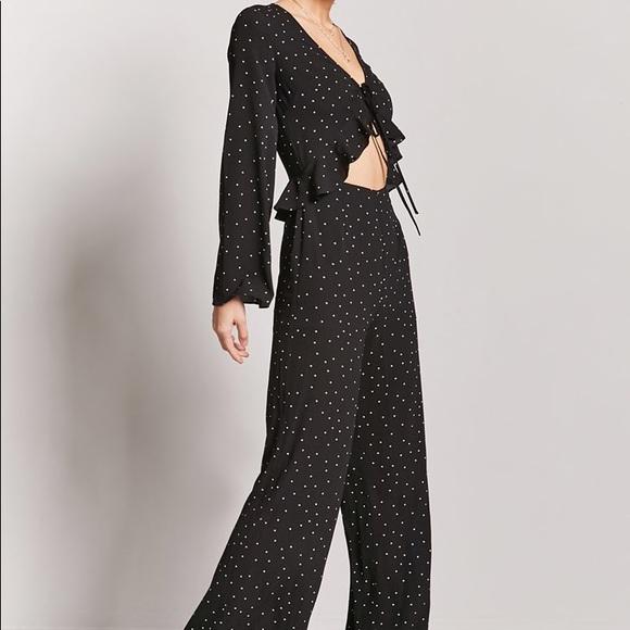 d2786f5d1c1d Black Tie-Front Jumpsuit